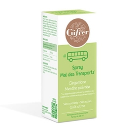 Spray mal des transport goût citron - 10 ml - gifrer -205696