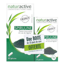 Spriruline 60 gélules + 20 gélules offertes - naturactive -225809