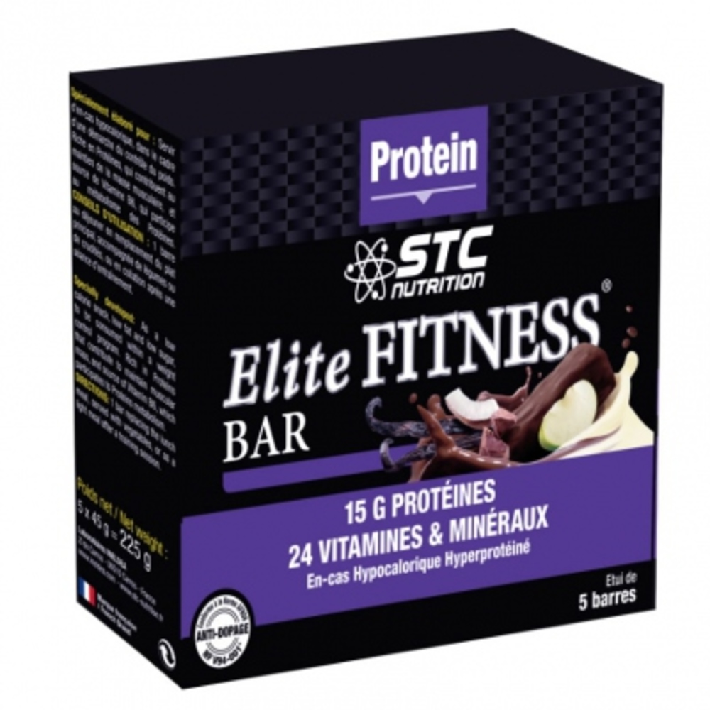 Stc nutrition elite fitness bar chocolat x5 - divers - stc nutrition -189956