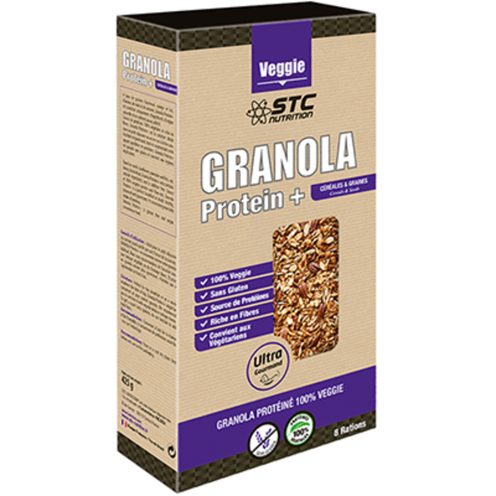 Stc nutrition vegan granola protein 425g - stc nutrition -215649