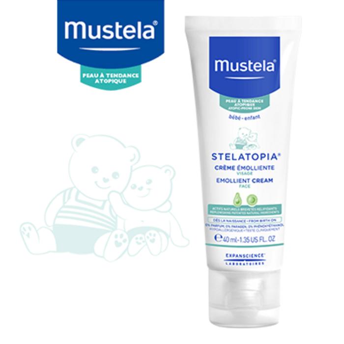 Stelatopia crème emolliente visage 40ml Mustela-222426