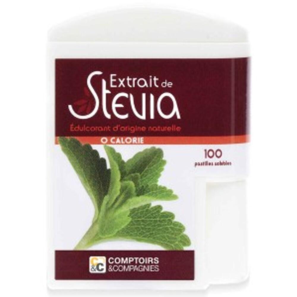 Stévia - 100 pastilles - divers - comptoirs & compagnies -134770
