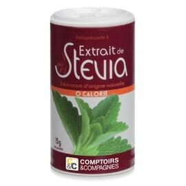Stévia poudre - 15 g - divers - comptoirs & compagnies -134760