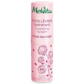 Stick lèvres hydratant rose sauvage bio 3,5g - nectar de roses - melvita -213385