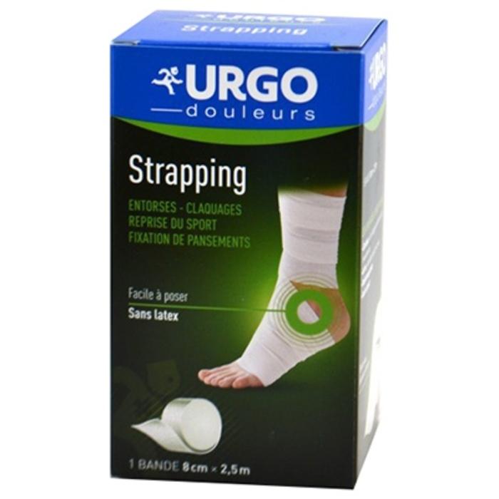 Strapping bande adhésive de contention 2,5 m x 8 cm Urgo-206641