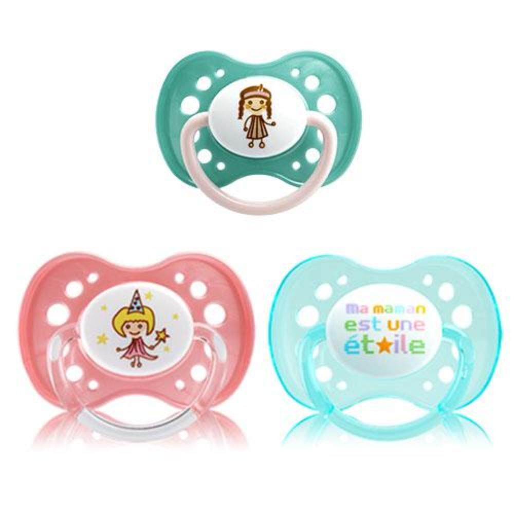 Sucette +18 mois fille anatomique silicone n°37 Dodie-144857
