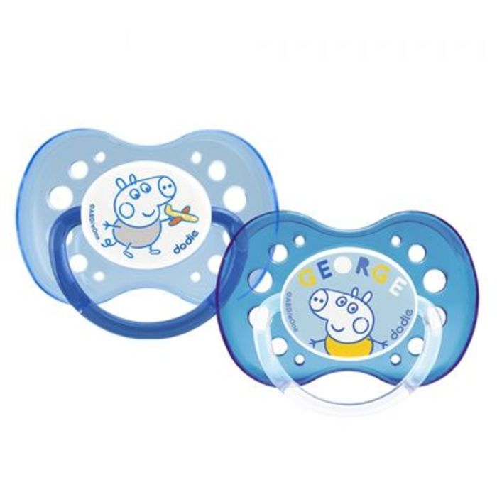 Sucette anatomique +18mois george peppa pig x2 Dodie-222529