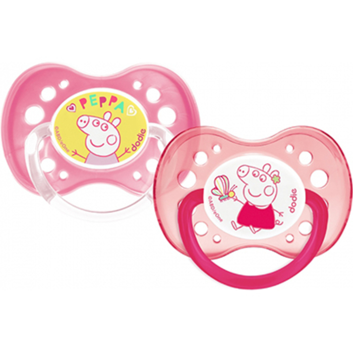 Sucette anatomique +18mois peppa peppa pig x2 Dodie-222530
