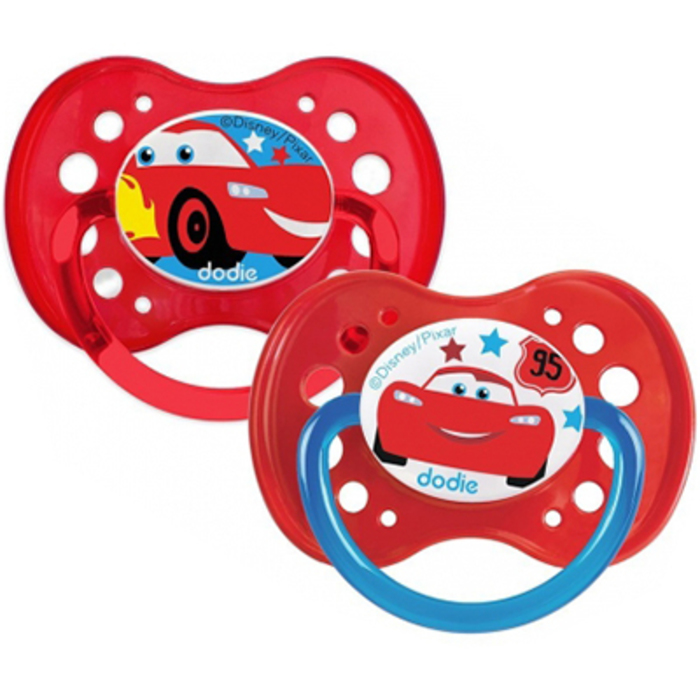 Sucette anatomique silicone +18mois x2 cars Dodie-220724
