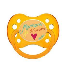 Sucette anatomique silicone +6mois maman je t'adore - dodie -221660