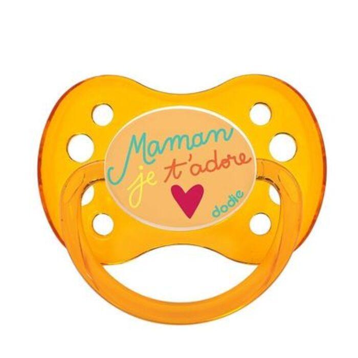 Sucette anatomique silicone +6mois maman je t'adore Dodie-221660
