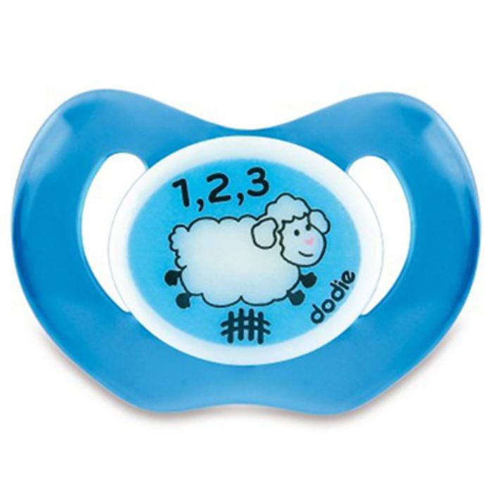 Sucette physiologique silicone nuit mouton bleu +18m p48 Dodie-221650