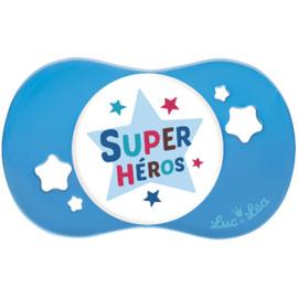 Sucette silicone symétrique super héros +18m - luc et lea -221279