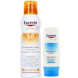 Sun coffret brume transparente spf50 200ml + après-soleil 150ml - eucerin -219378