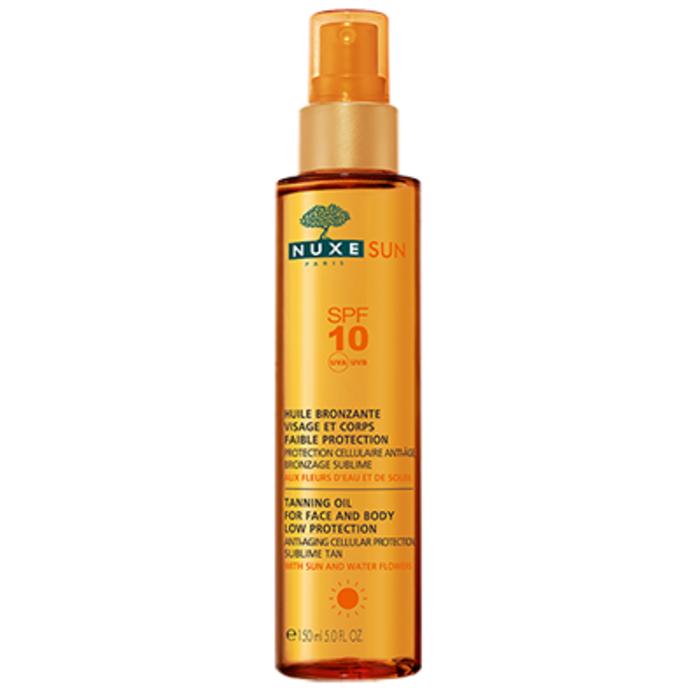 Sun huile bronzante visage et corps spf10 Nuxe-145063