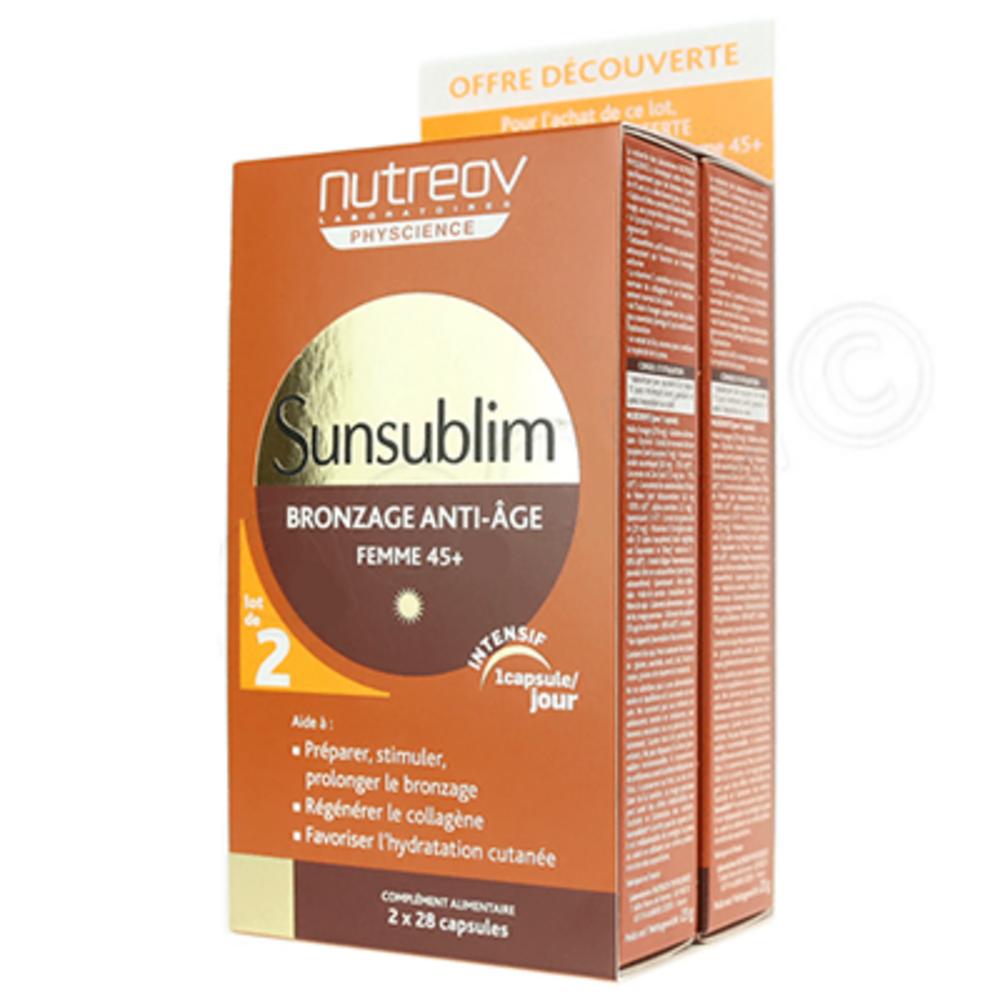 Sunsublim bronzage age expert 2x28 capsules - nutreov -195695