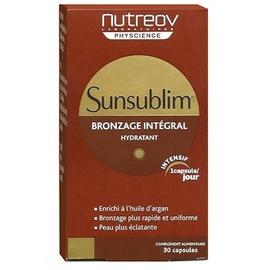 Sunsublim bronzage intégral 30 capsules - nutreov -196709
