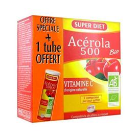 Super diet acerola 500 bio - promo - 24.0 unites - vitamine c - super diet -125716