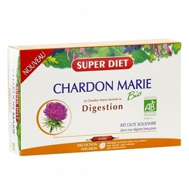 Super diet chardon marie - 20 ampoules - 20.0 unites - digestion - super diet -138999