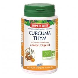 Super diet curcuma et thym - 90 gélules - 90.0 unites - les gélules de plantes bio - super diet propriétés antioxydantes-11096