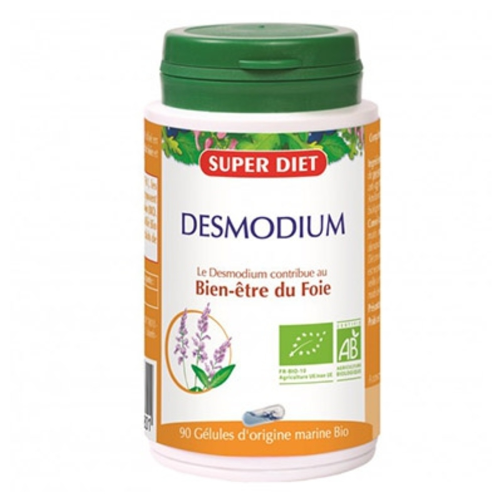 Super diet desmodium 90 gélules - 90.0 unites - les gélules de plantes bio - super diet Bien-être du foie-138941