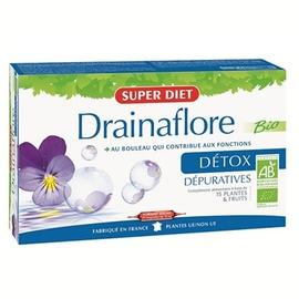 Super diet drainaflore bio - 20 ampoules - 20.0 unites - drainage - super diet Bio formule dépurative-2765
