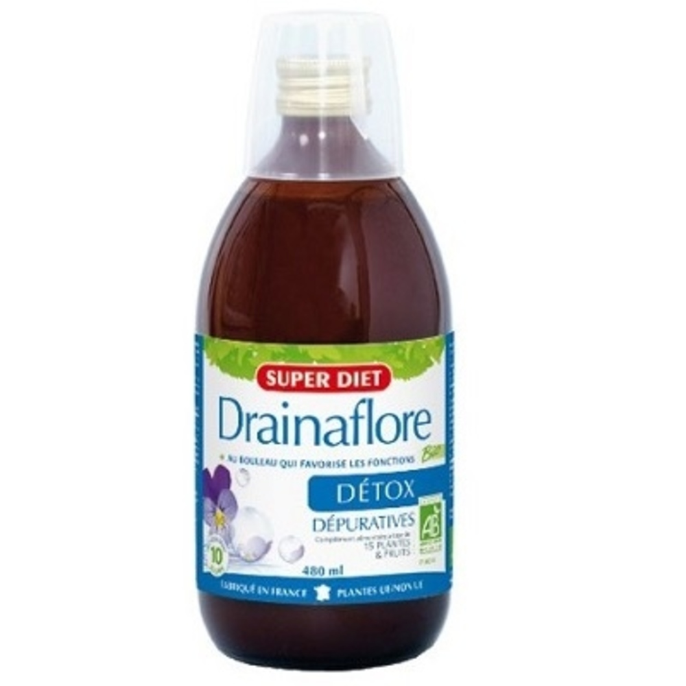 Super diet drainaflore boisson - 480 ml - divers - super diet -189965