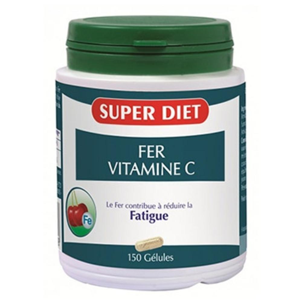 Super diet fer + vitamine c - 150 gélules - 150.0 unites - les super nutriments - super diet -140378