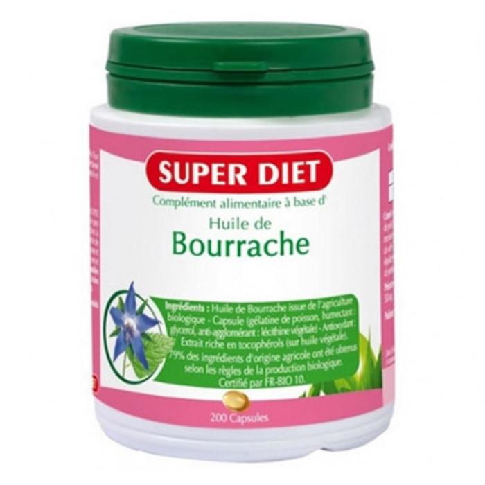 Super diet huile de bourrache - 200 capsules Super diet-4477