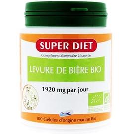 Super diet levure de bière bio - 100 gélules - super diet -205429