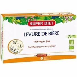 Super diet levure de bière bio 20 ampoules x 15ml - super diet -214584