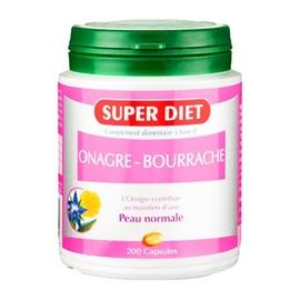 Super diet onagre bourrache bio 200 capsules - 200.0 unites - les super nutriments - super diet Souplesse et élasticité de la peau-4480