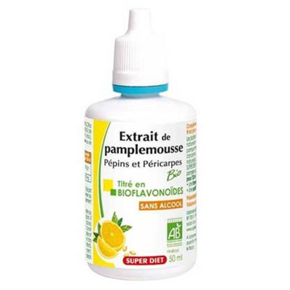 Super diet pépins de pamplemousse bio - 50.0 ml - vitalité - super diet -125759