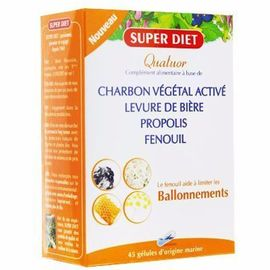Super diet quatuor ballonements 45 gélules - super diet -216625