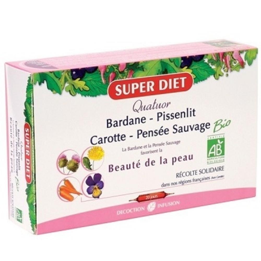 SUPER DIET Quatuor Beauté de la Peau - 20 Aampoules - 20.0 unites - Les quatuors - Super Diet Peau nette-4464