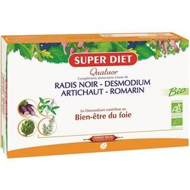 Super diet quatuor bien-être du foie bio - 20 ampoules - 20.0 unites - les quatuors - super diet -105250