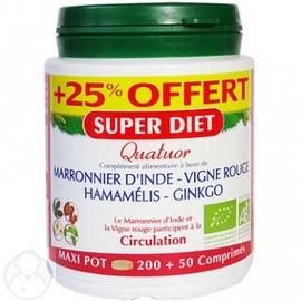 SUPER DIET Quatuor Circulation +25% OFFERT - Super Diet -190245