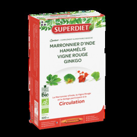 Super diet quatuor circulation bio - 20 ampoules - 20.0 unites - les quatuors - super diet Jambes lourdes et circulation-4467