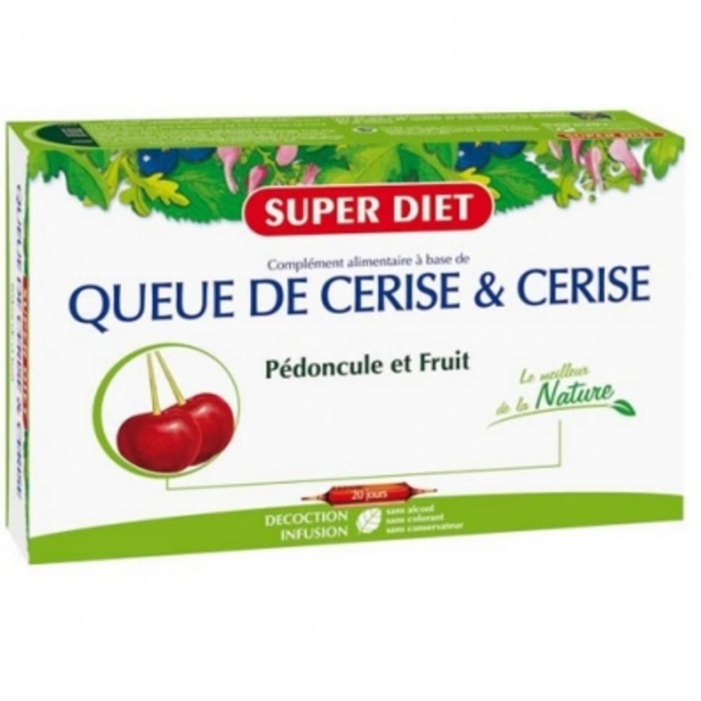 Super diet queue de cerise - 20 ampoules - 20.0 unites - les purs jus de légumes et extraits de plantes - super diet -140377