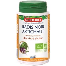 Super diet radis noir artichaut 90 gélules - 90.0 unites - les gélules de plantes bio - super diet bon fonctionnement du foie-11104