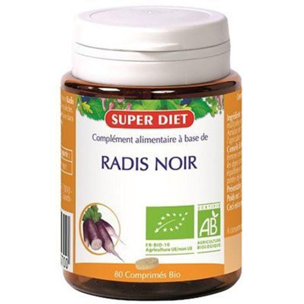 Super diet radis noir bio 80 comprimés - 80.0 unites - digestion - foie - super diet Bon fonctionnement du foie-4489