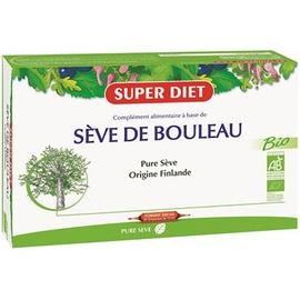 Super diet sève de bouleau - 20 ampoules - 20.0 unites - les purs jus de la terre - super diet Changement de saisons-11072