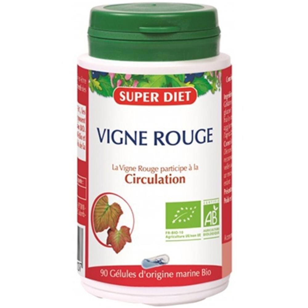 Super diet vigne rouge - 90 gélules - 90.0 unites - les gélules de plantes bio - super diet bien être circulatoire-11100