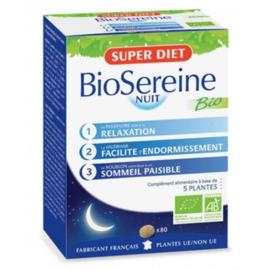 Superdiet biosereine - 80.0 unites - sommeil - détente - super diet Calme bienfaisant-4522