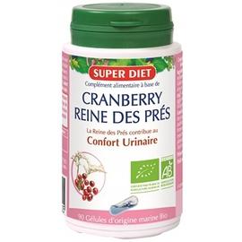 Superdiet cranberry reine des prés bio 90 gélules - 90.0 unites - les gélules de plantes bio - super diet confort urinaire-11095