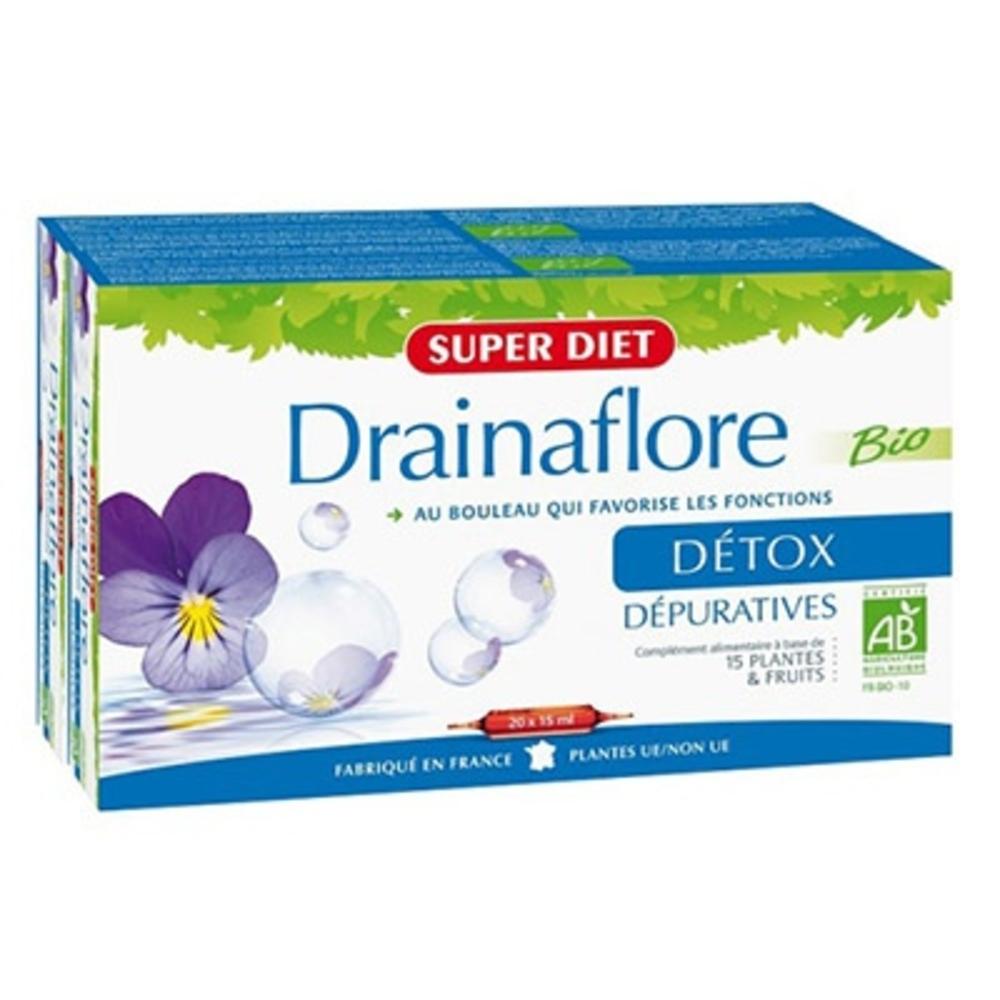 Superdiet drainaflore bio - promo - 30.0 unites - drainage - super diet -139341