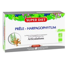Superdiet harpagophytum bio - 20 ampoules - 20.0 unites - ossature - articulations - super diet Souplesse et mobilité-4449