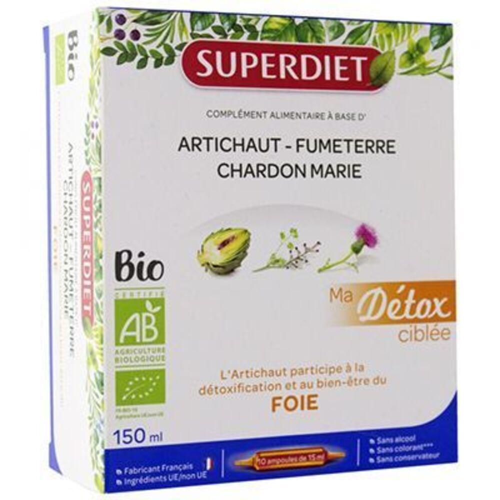 Superdiet ma détox ciblée foie bio 10 ampoules Super diet-225296