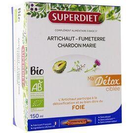 Superdiet ma détox ciblée foie bio 10 ampoules - super diet -225296