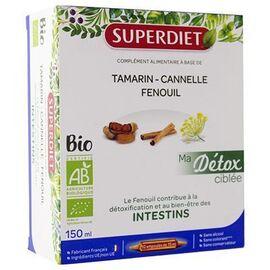 Superdiet ma détox ciblée intestins bio 10 ampoules - super diet -225297
